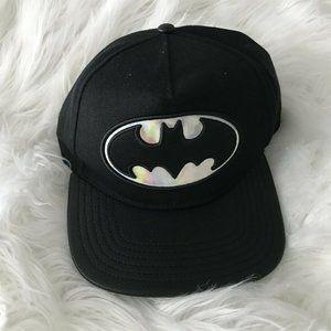 Batman 3D Embroidery Flat Brimmed Hip Hop Cap